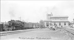 """Location: Pembroke, ON  Railway Name: CANADIAN NATIONAL RAILWAYS  Date: 1955-07-00  Caption: """"Some views of CNR in Pembroke, Ontario, before the termination of passenger service on the Locksley subdivision."""""""