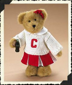 "Boyds Bears ""Dinah"" 10"" Coca Cola Plush Bear -#919963- Licensed - NWT - Retired"