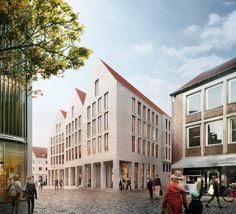 1. Preis: Perspektive Markt, © Helmut Riemann Architekten GmbH
