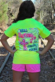 Southern Girls Tee - Neon Yellow $19.99 #SouthernFriedChics