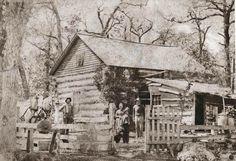 Log cabin in the mid 1880's - Washington CO, Minnesota