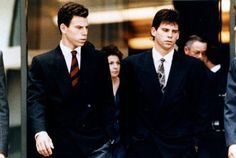 The Menendez brothers put on a good show for the cameras during the first trial, presenting themselves as sophisticated, abused yuppies.