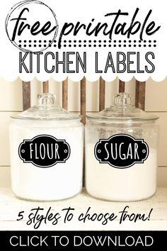 FREE Printable Kitchen Pantry Labels