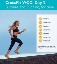 Burpees and Running CrossFit WOD