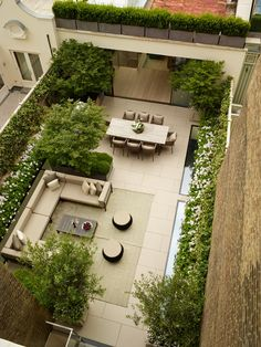 Garden Design London, Modern Garden Design, Backyard Garden Design, Small Backyard Landscaping, Balcony Garden, Lawn And Garden, Landscape Design, Roof Balcony, Narrow Backyard Ideas