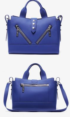 Blue bag inspired by California woith Parisian detailing
