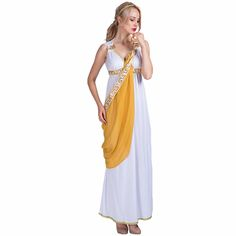Women Sexy Hot Greek Goddess Costume Cosplay Party Fancy Dress Mini Skirt for Female Adult Lady Halloween Costumes #Costume #Cosplay