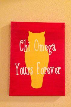 Chi Omega yours forever Gamma Phi, Delta Zeta, Sigma Kappa, Chi Omega Recruitment, Die O, Chi Omega Crafts, Sorority Crafts, Sorority Life, O Love