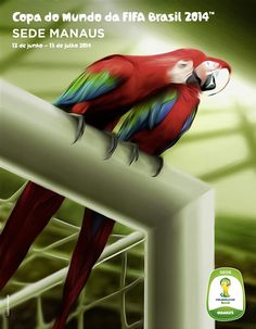 Poster FIFA World Cup 2014 Host City Manaus
