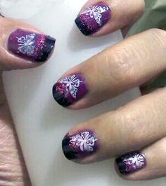 mariposa sobre bicolor Nail Art, Nails, Painting, Beauty, Finger Nails, Ongles, Painting Art, Nail, Nail Arts