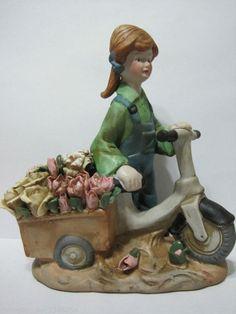 ArtMark Chicago Country Farm Girl Peddling by DianesBargainShack, $15.00
