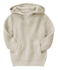 Look at this #zulilyfind! Light Khaki Textured Hoodie - Toddler & Boys #zulilyfinds