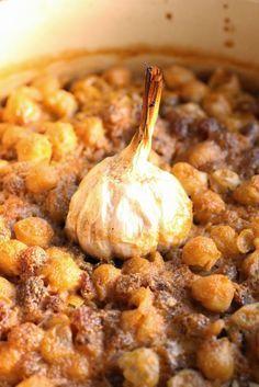 Riz au four aux pois chiches et aux raisins (Espagne) - Oven-cooked rice with chickpeas and sultanas
