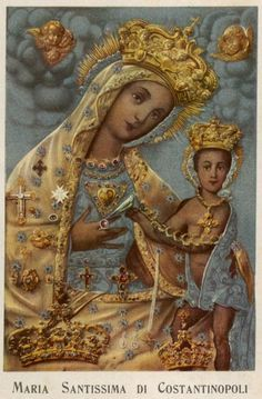 Maria Santissima di Constantinopoli The miraculous icon of Our Lady of Constantinople, the patroness of the Italian city and province of Bari. According to legend the image was painted by St Luke and...