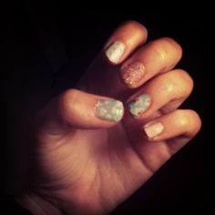 Tonights nails clouds,flowers an spots!