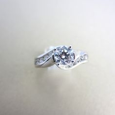 Complete diamond engagement ring in white gold for under $2,999!