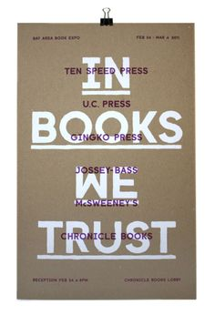 In Books We Trust