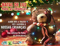 """HCFMB lança campanha """"Natal de Luz"""" em prol da Enfermaria da Pediatria - Doação de enfeites de Natal renova a esperança das crianças que passam as festas de final de ano internadas   Muitas crianças passam as comemorações de fim de ano internadas no HCFMB. Pensando nisso, a Enfermaria de Pediatria criou a campanha """"Natal de Luz para as Crianças"""". A campanha tem o int - http://acontecebotucatu.com.br/geral/hcfmb-lanca-campanha-natal-de-luz-em-prol-da-enfermaria"""