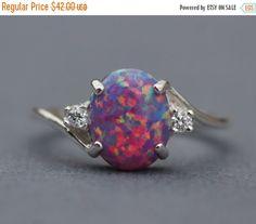 SALE Rare Purple Fire Opal CZ Gemstone by hangingbyathread1