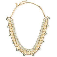 kate spade new york carnival crystal statement necklace (2.290 ARS) ❤ liked on Polyvore featuring jewelry, necklaces, mint, crystal bib statement necklace, chain bib necklace, charm necklace, statement necklaces and mint green statement necklace