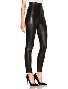ThePerfext FWRD Exclusive Jessica High Waisted Leather Leggings in Black | FWRD