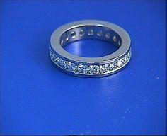 Wedding Ring 1.35ct Round Diamonds Eternity Diamond by blueriver47, $1580.00