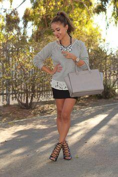 Gray it Grey / Dulce Candy Diva Fashion, Fashion Killa, I Love Fashion, Passion For Fashion, Fashion Outfits, Classic Fashion, Fashion Trends, Dulce Candy, Beauty