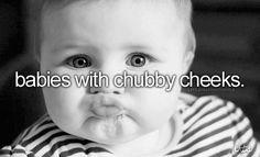 babies with chubby cheeks