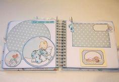 Jardinet de paper Scrapbooking: Álbum Scrapbooking para bebe