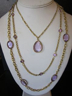 Vintage Triple Strand Victorian-esque Necklace on Etsy, $16.00