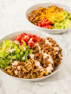 That ain't what you think it is....Vegetarian Hamburger Bowls with Spiralized Potatoes