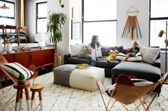 The fashion designer teamed up with The Studio at One Kings Lane's Alexander Reid to give her Brooklyn apartment a stylish and kid-friendly revamp. Here's how they pulled it off (and ho…