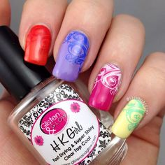 Bright and Colourful Nail Art by @LadyOfLacquer - see www.instagram.com/ladyoflacquer for more nail art