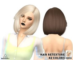 Hair retexture / Nightcrawler Moonlight / 42 colors