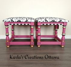 Side tables repurposed on benches refinished with ASCP products Ottawa, Side Tables, Benches, Repurposed, Chair, Furniture, Home Decor, Products, Banks