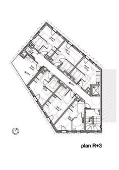 Hotel Floor Plan, Loft Studio, One Bedroom Apartment, Architecture Plan, House Plans, Floor Plans, Diagram, Layout, Flooring
