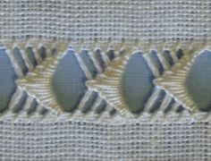 drawn thread sampler buttonhole stitch