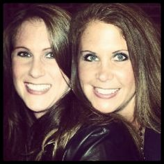 Me and Rebecca....brunettes at the time.