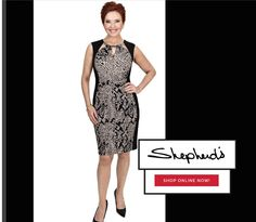 June 2016 This Glamazon dress from Joseph Ribkoff is one of our new styles available on Shepherd's on line store.