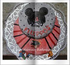 Χιώτικες Διαδρομές: Club Mickey Mouse τούρτα  Νο 2 με ζαχαρόπαστα από ... Mouse Parties, Marshmallows, Mickey Mouse, Birthday Cake, Cakes, Create, Party, Desserts, Food