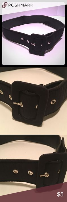 """Black belt The belt from tip to tip is 37"""" which can be worn as a waist belt or a regular belt. Accessories Belts"""