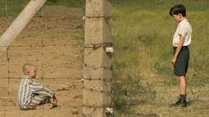 Jack Scanlon and Asa Butterfield in The Boy in the Striped Pyjamas