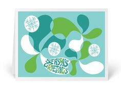 Modern Retro Holiday Greeting Cards, atomic mod Christmas holiday greeting cards