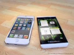 BlackBerry Z10 Vs. iPhone 5 in White & Black