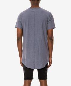 Jaywalker Men's Extended-Hem T-Shirt, Only at Macy's - Blue XXL