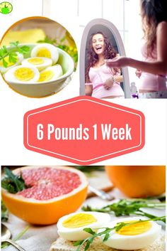 Lose 6 Pounds in Just 1 Week  With This Very Effective Egg Diet!