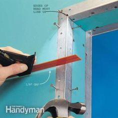 Learn the drywall taping tips and techniques that pros use to speed up their work. And learn how to finish drywall. Drywall Tape, Drywall Repair, Drywall Mud, Home Improvement Projects, Home Projects, Drywall Finishing, Gypse, Drywall Installation, Home Fix