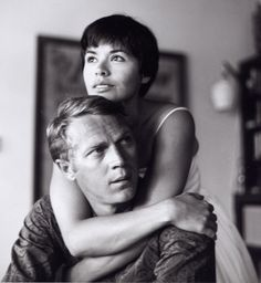 Steve McQueen and Neile Adams at home, circa 1958  by Curt Gunther