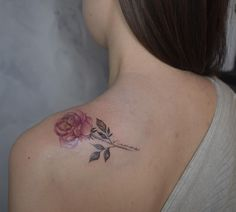 Watercolour Tattoos, Watercolor, Blackwork, Ink Tattoo, Tattoo Toronto, Rose, Pen And Wash, Watercolor Painting, Pink