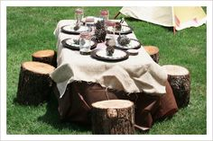 Have your princess and her guests enjoy their campout party in style! We can help: www.distinctivesoirees.com